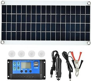 15W Flexible Polycrystalline Solar Panel Controller Battery Charger rechargeable battery