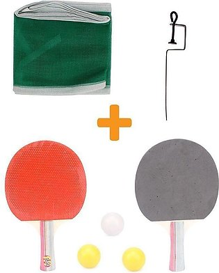 Table Tennis Racket With Net And Ball