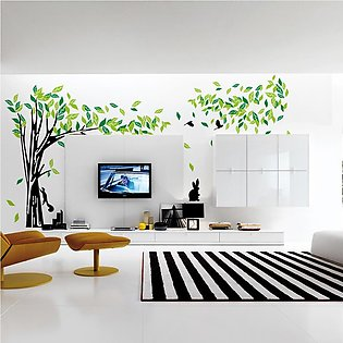Large Tree Wall Sticker Living Room Removable PVC Wall Decals Family DIY Post...