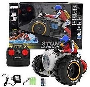 RC Car, KINGBOT 2.4Ghz Remote Control Amphibious Motorcycle High Speed Spinni...