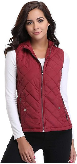 Ladies Red Puffer Parachute Jacket for Women