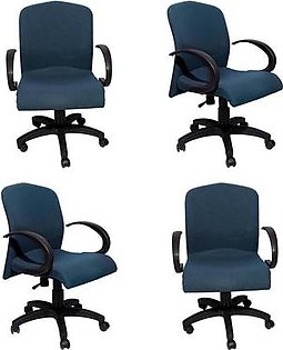 Set Of 4 - Impression Executive Office Chair - Navy Blue