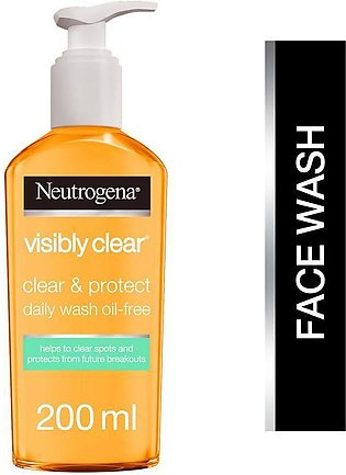 Neutrogena Visibly Clear, Oil Free Clear & Protect Daily Wash 200Ml