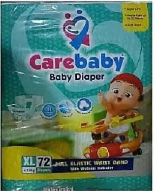 Care Baby Diapers - X-Large (Size 5) - 72 Pcs