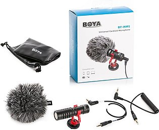 BOYA BY-MM1 Compact On-Camera Video Microphone Youtube Vlogging Recording Mic...