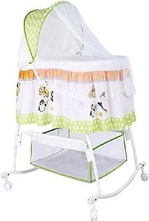 Baby Cot Cradle With Mosquito Net - White