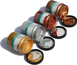 Golden Copper and Silver Acrylic Paint 70 Grams