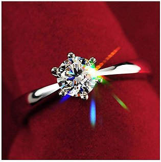 925 Sterling Silver Rings For Women Bridal Wedding Jewellery Engagement with Zi…