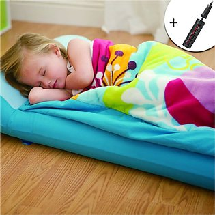 Kids Sleeping Bag and Airbed with free Air Pump - Blue