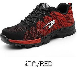 Breathable safety shoes, flying woven sports, anti-smashing and puncture safe...