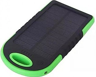 Solar Power Bank 5000 mAh - Black & Green