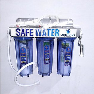 Water Filter 3 Stages ( 3 Stages Water Purifier) With Steel Plate