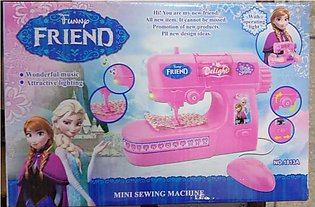 Mini Sewing Machine Toy for Kids Battery Operated - Pink - Girl Toy AS5