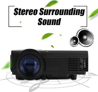 Mini Projector 1080P Home Theater Projector 37-100in Super Clear Stereo Sound Video Projectors - UK Plug