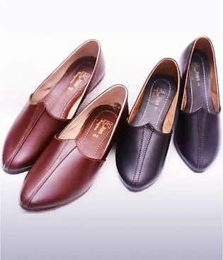 Pack of 2 Men's Traditional High Quality Pumps, Arabic Khussa Style Footwear.
