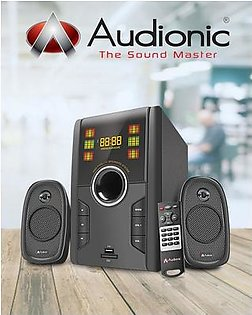 Max 350 Audionic Multimedia Bluetooth Woofer Bass Speakers For Computers