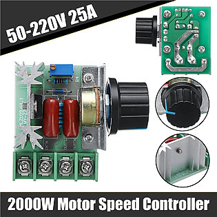 2000W 50-220V 25A PWM Motor Speed Controller For Electric Stove Lighting Dimmer