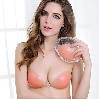 Invisible Strapless Push Up Silicone Bra Increase Size Cup C