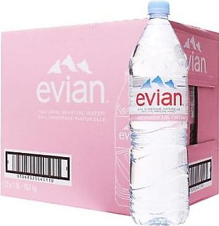 PACK OF 12 : EVIAN NATURAL MINERAL WATER 1.5LTR