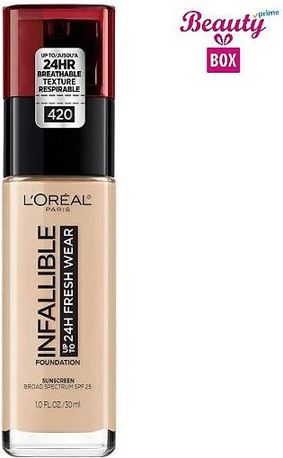 Loreal Infallible 24H Foundation - 130 True Beige, 30 ml
