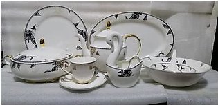 102 Pcs Bone China Dinner Set with Duck Stand pot 100% Original Imported Item