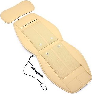 Universal 3 In 1 Car Auto Cooling & Warm Heated & Massage Chair Seat Cover Cushion (Beige)