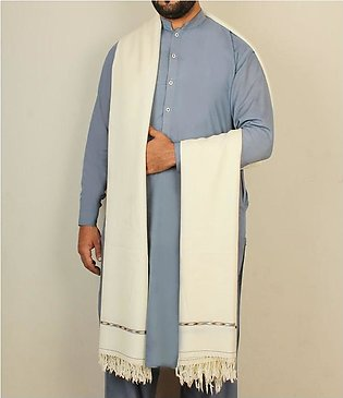 Australian Pure wool Gents shawl White