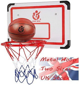 Wall Mounted Hanging Basketball Goal Hoop Rim Net Metal Sporting Goods Netting …
