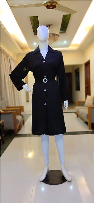 coat pack of 2 black irani coat  new style  short and full availble  plane co...