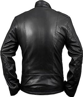 Feather hide Brando leather motorcycle jacket made of genuine leather