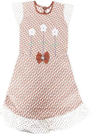 baby frock peach color