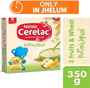 Nestle cerelac (3 fruit) - 350gm - Baby Food (One day delivery in Jhelum)