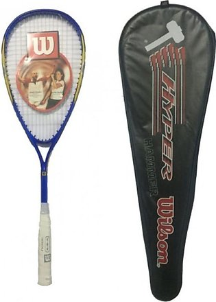 Squash Racket With Cover - Blue