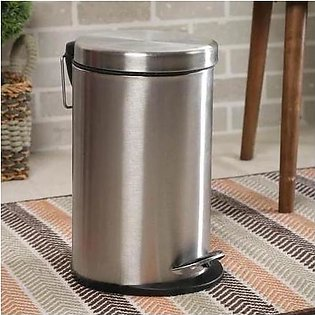 Dustbin with Pedal - Chrome Finish - 3 liter
