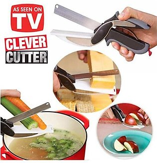 Clever Cutter 2-in-1 Knifee & Cutting Board- Quickly Chops Your Favorite Fruits…