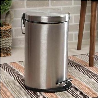 Dustbin with Pedal -Chrome Finish - 5 liter