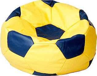 Relaxsit Queen Size Football Leather Bean Bag - Multicolour  Luxury Room Furnit…