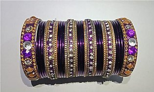 Bangles Metal For Women and Girls 15 Bangles 6 Karay (2.25 & 2.50 Inches)