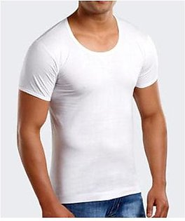 Pack of 5 Cotton Vest for Men with Short Sleeves Premium Quality Men Vest Banyan Inner Wear for Boys White Vest