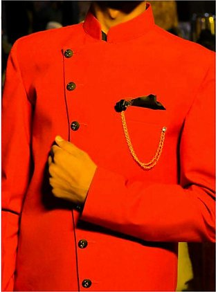 Red Prince Coat For Men New Fashion Waist Coat