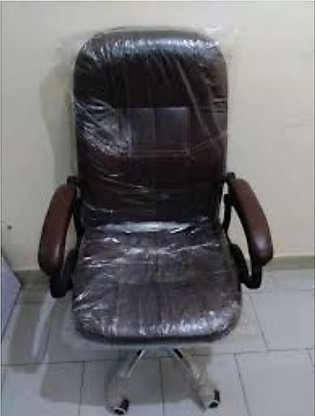 High Quality Brown Pure Leather Revolving Office Chair