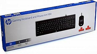 Gaming Keyboard and Mouse km 100 Wired HP