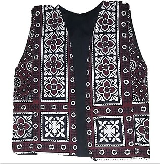 Ladies traditional ajrak Jacket for summer fashion