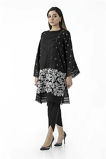 EGO Fall Collection 2019 Black Out Black Cotton Kurti For Women