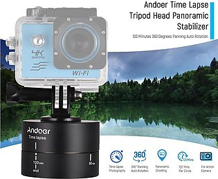 Andoer 120 Minutes 360 Degrees Panning Auto Rotation Time Lapse Tripod Head P...