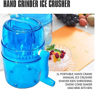 Ice Cream Sandwich Makers - 1l Portable Hand Crank Manual Ice Crusher Shaver ...