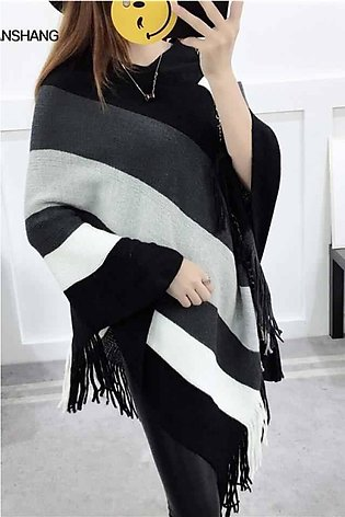 Winter cape shawl