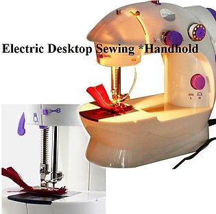 Mini LED Light Electric Portable Convenience Desktop Sewing Machine Hand Held...
