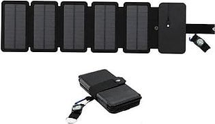 8W Solar Folding Charger Outdoor Portable Direct Charging Solar Package Camping 5V 2A Usb Output Solar Power Bank For Outdoor Mobile Phone Tablet Mobile Power Tool