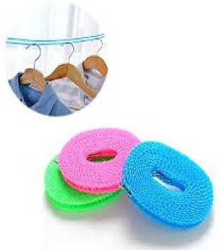 (Pack OF 2) Nylon Clothesline Hanger Drying Rope - 5 Meters
